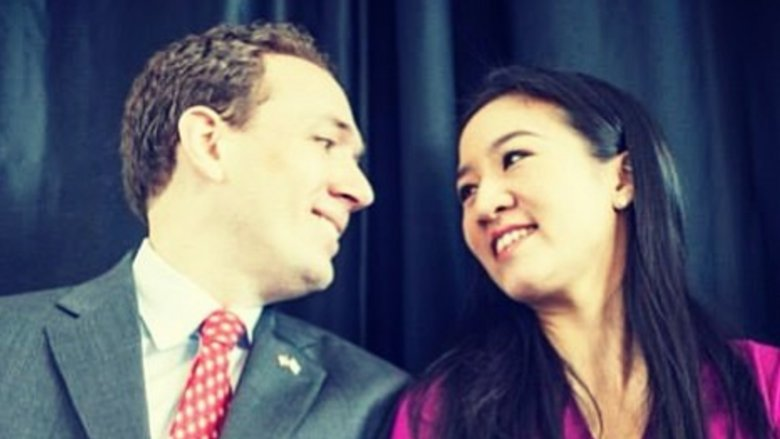 Clay Pell and Michelle Kwan