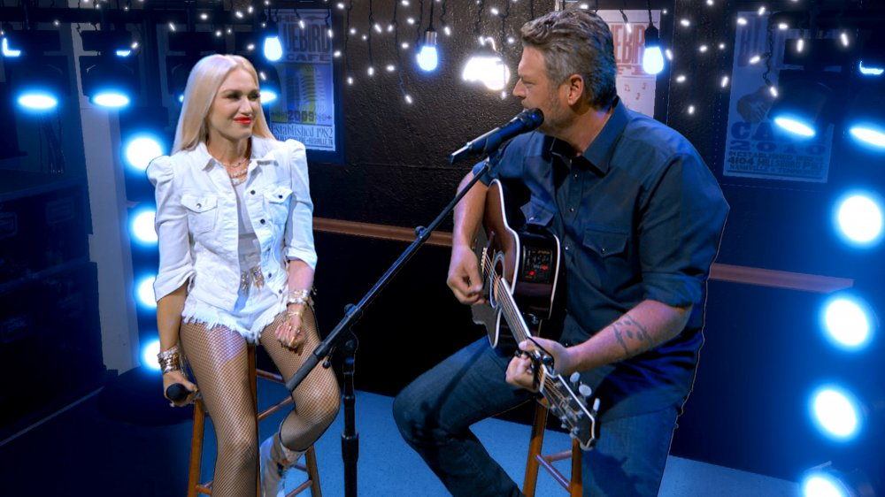 Gwen Stefani Edits Blake Shelton In, Ex-Husband Out of Old Pic