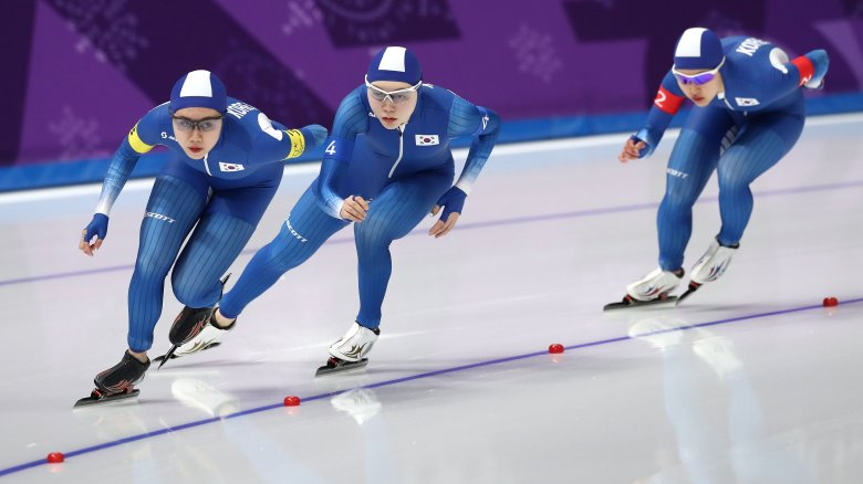 South Korean women's speed skating team