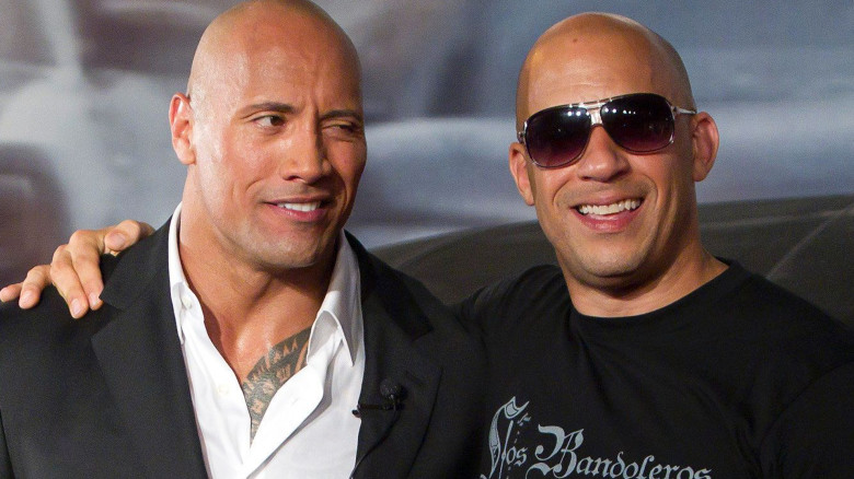 what 39 s really going on between the rock and vin diesel. Black Bedroom Furniture Sets. Home Design Ideas