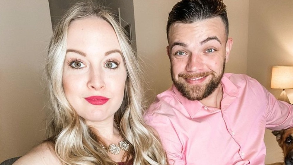 90 Day Fiancé's Elizabeth Potthast and Andrei Castravet posing for a selfie