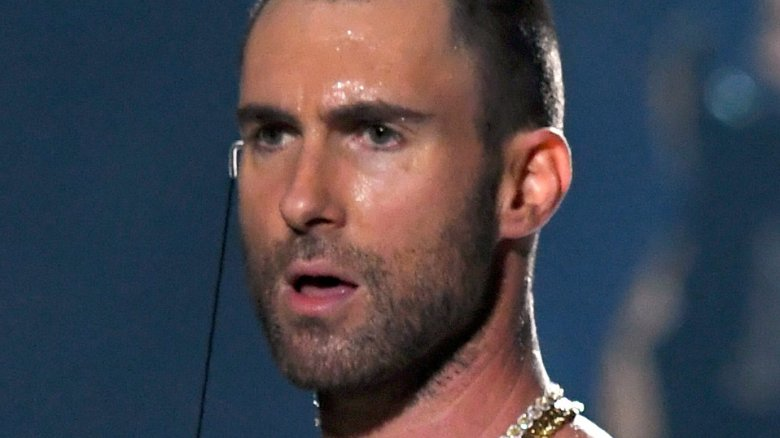 b72e74a3 Maroon 5's Adam Levine at the Super Bowl halftime show