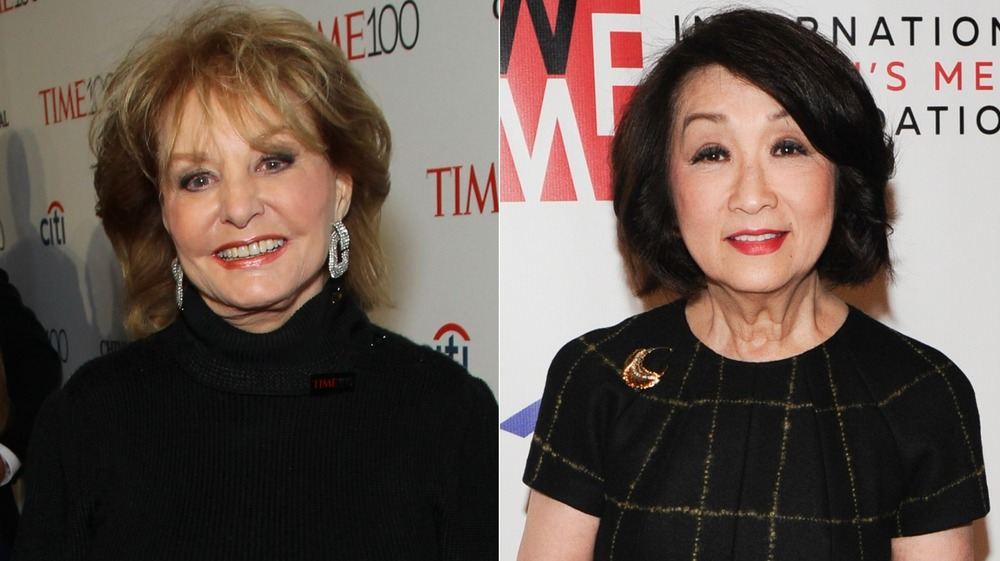 Barbara Walters and Connie Chung smiling
