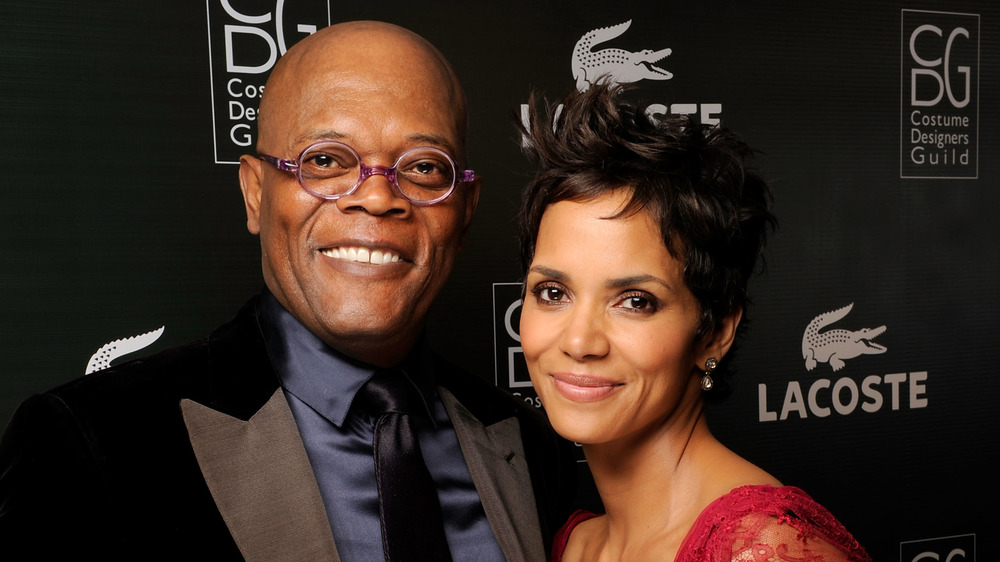 Samuel L. Jackson and Halle Berry smiling