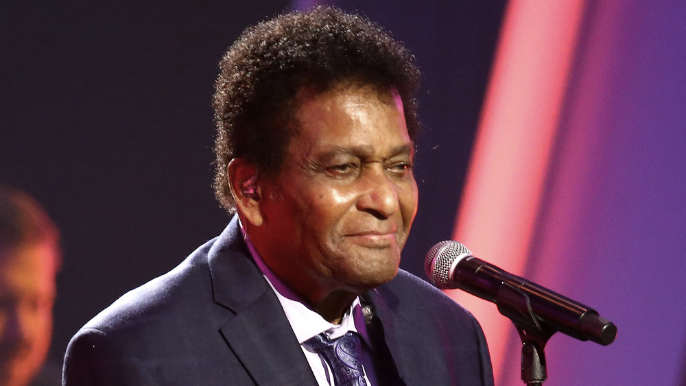 Country music icon Charley Pride performing at the CMA Awards in November 2020