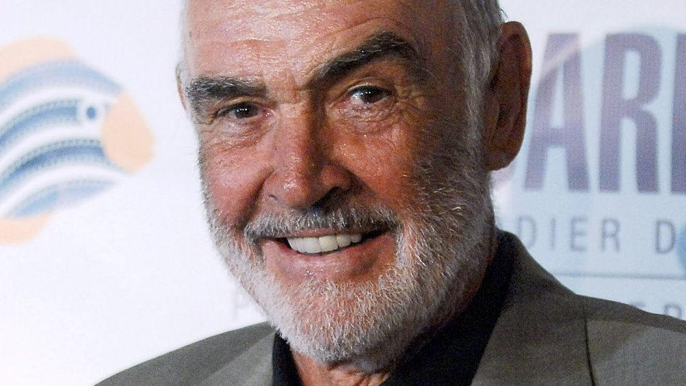 Sean Connery arching one eyebrow