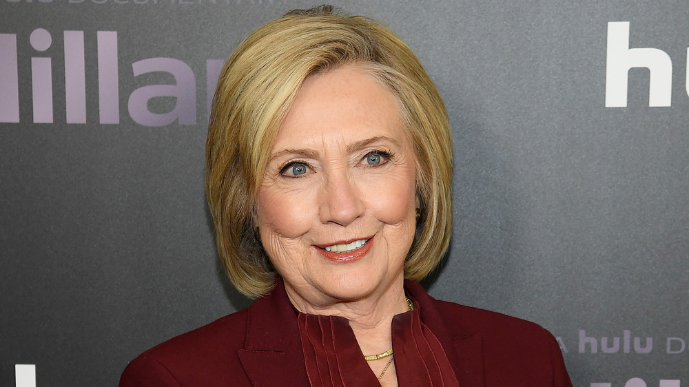Hillary Clinton attends the Hillary premiere in 2020
