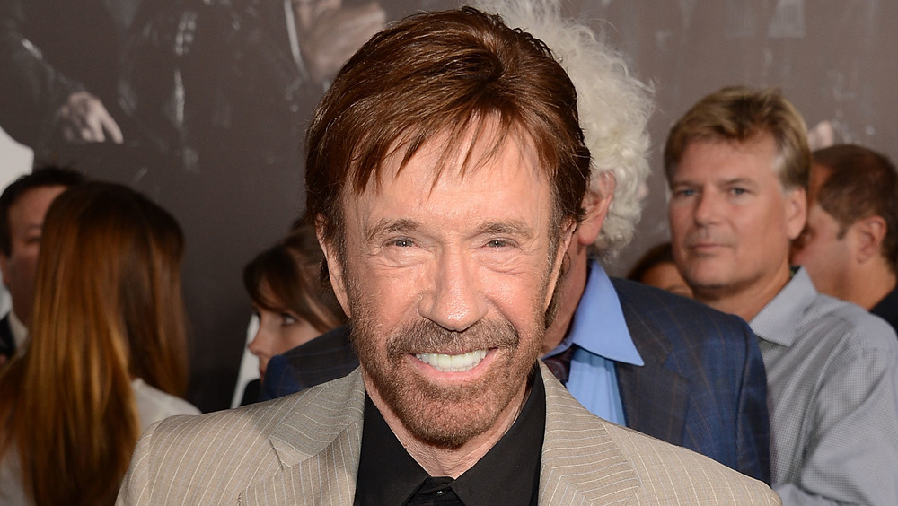 Chuck Norris smiling