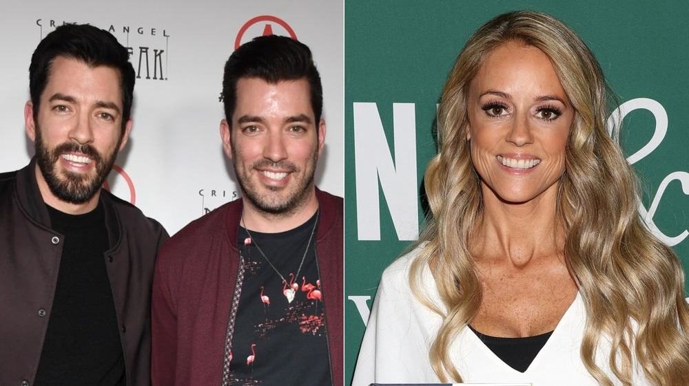 Property Brothers and Nicole Curtis posing