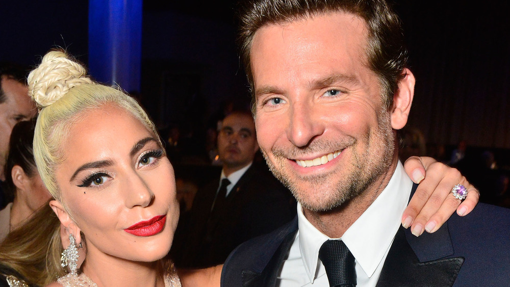 Lady Gaga and Bradley Cooper at an event
