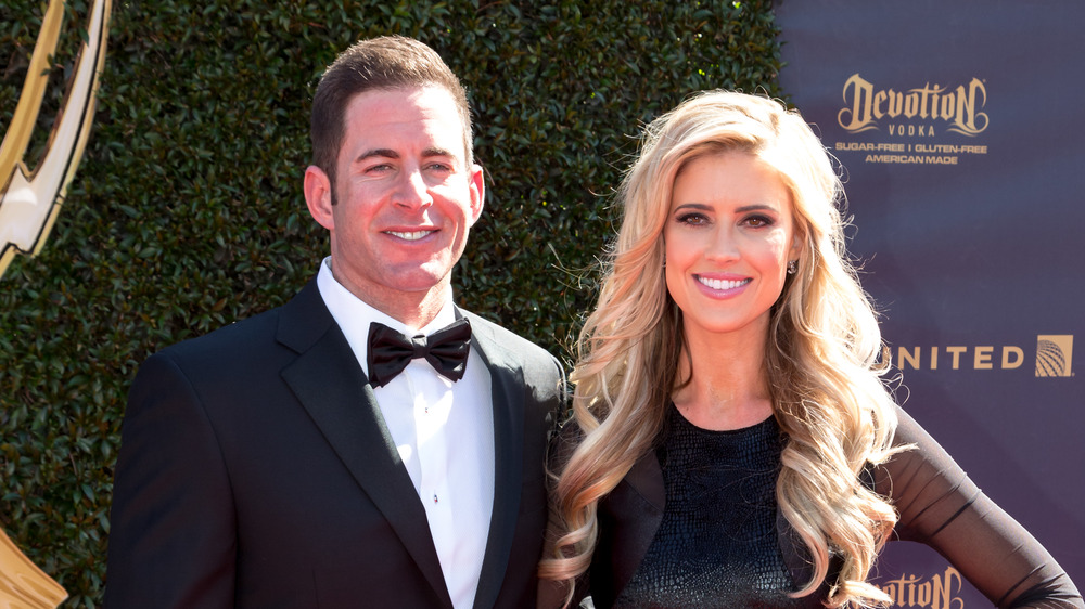 Tarek El Moussa and Christina Anstead on the red carpet