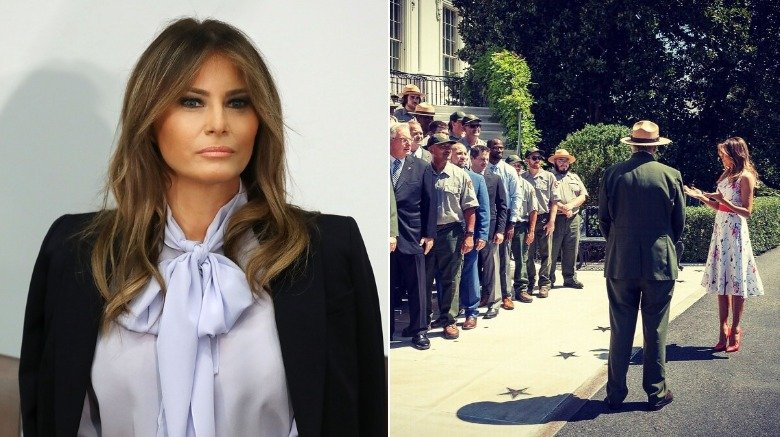 Melania Trump with the National Park Service