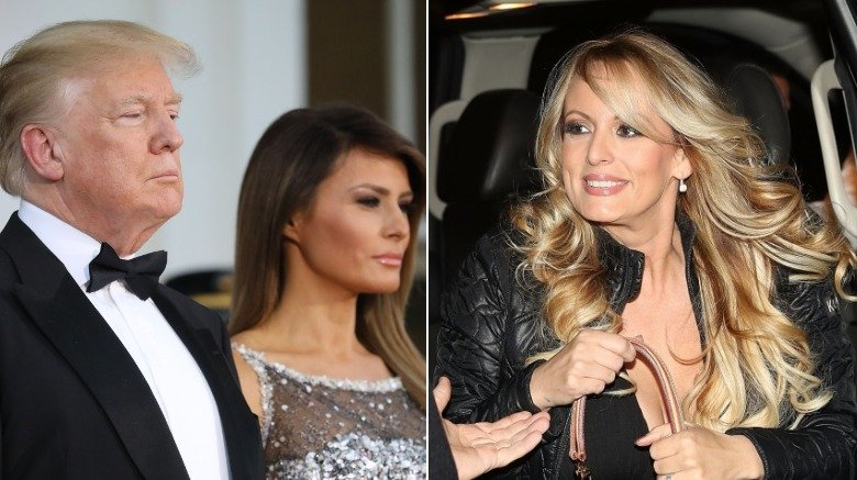 Donald and Melania Trump and Stormy Daniels