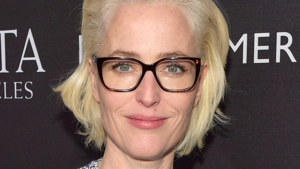 Gillian Anderson with glasses