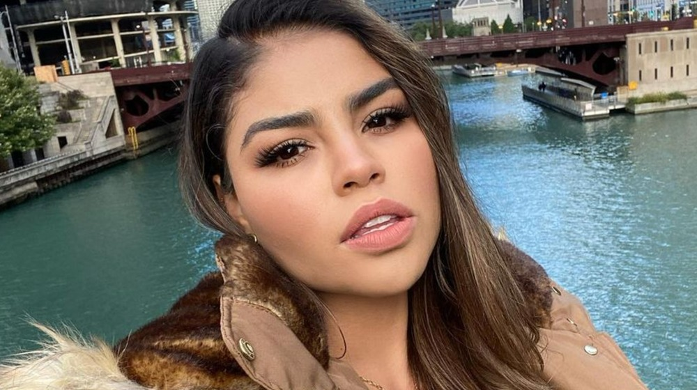 Fernanda Flores takes a selfie in Chicago