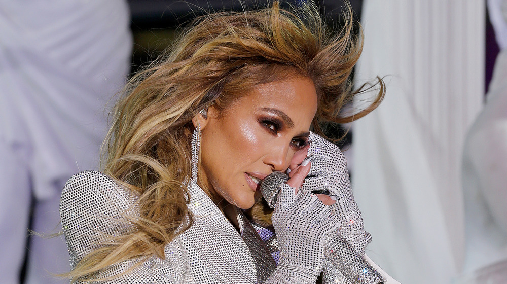 Jennifer Lopez performing live on New Year's Eve