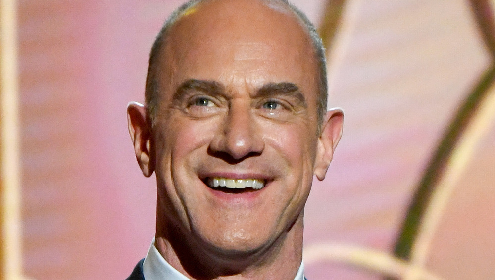 Christopher Meloni presenting at the Golden Globes