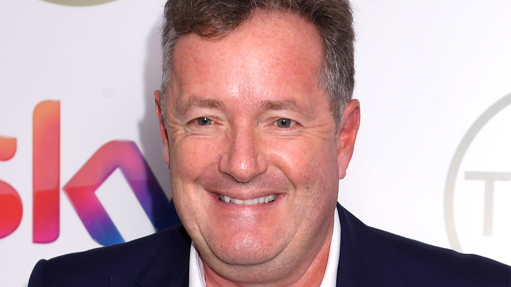 Piers Morgan on the red carpet