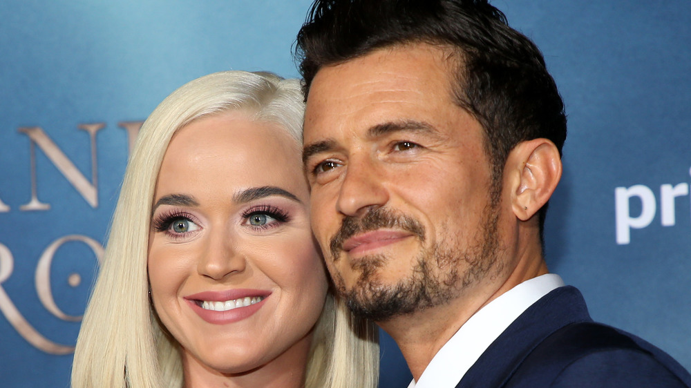Katy Perry and Orlando Bloom posing together