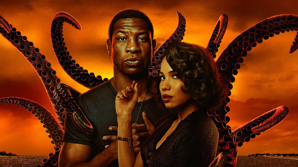 Jonathan Major and Jurnee Smollett in a promotional poster for Lovecraft Country