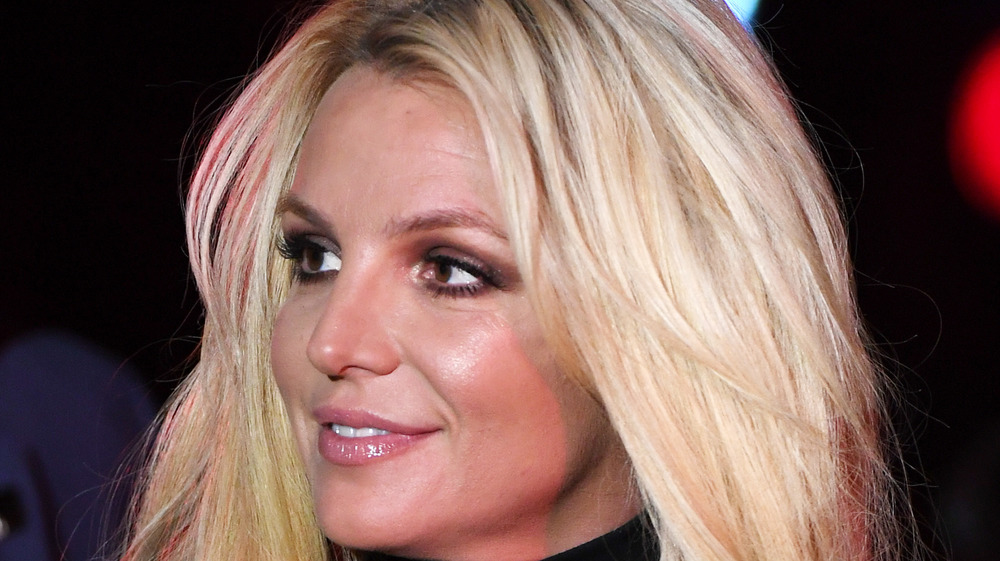 Britney Spears looking to the side