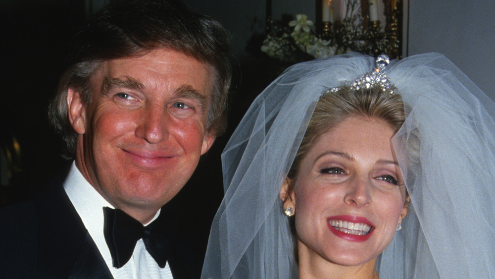 Donald Trump with second wife Marla Maples