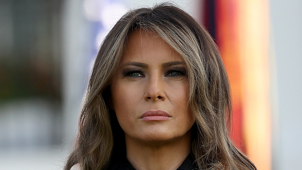 Melania Trump stares off into the distance