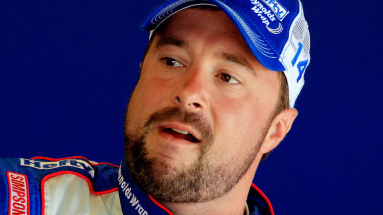 Eric McClure speaking at a race