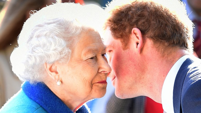 Queen Elizabeth II and Prince Harry