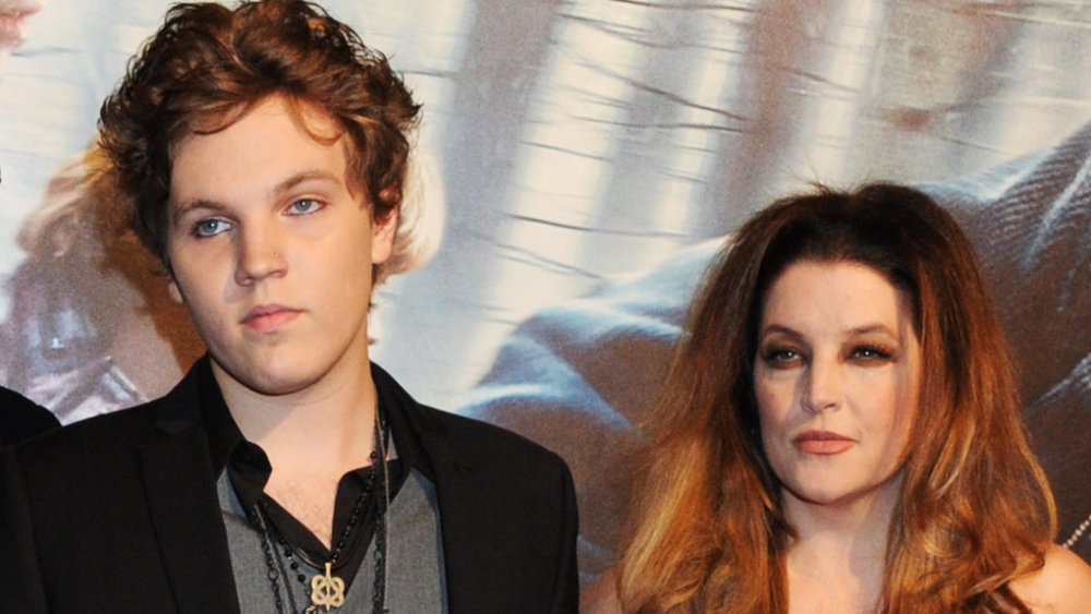 "Benjamin Keough and Lisa Marie Presley on the red carpet at the premiere of ""Harry Potter and the Deathly Hallows"" in 2010"