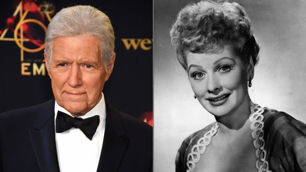 Alex Trebek and Lucille Ball