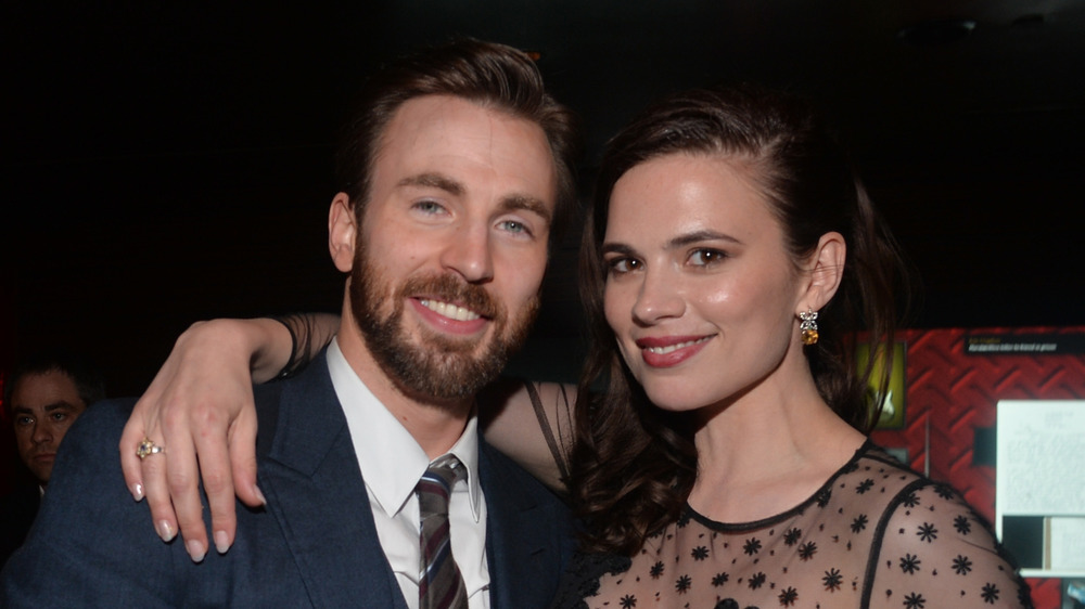 Hayley Atwell Chris Evans Captain America after party