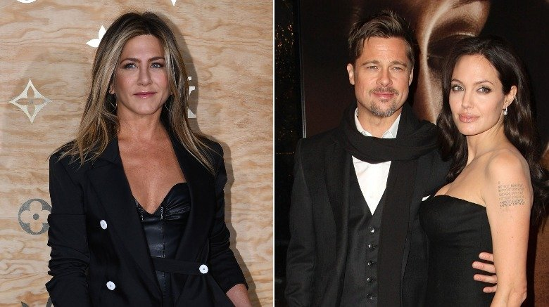 Jennifer Aniston Brad Pitt Angelina Jolie