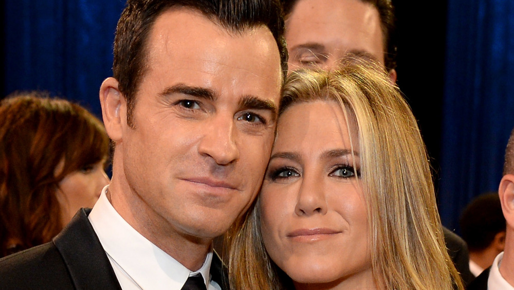 Justin Theroux and Jennifer Aniston at an event