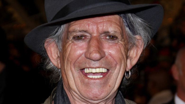 Keith Richards' face
