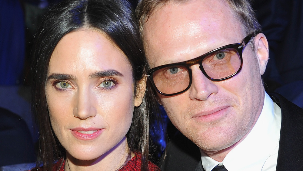 Jennifer Connelly and Paul Bettany sitting together