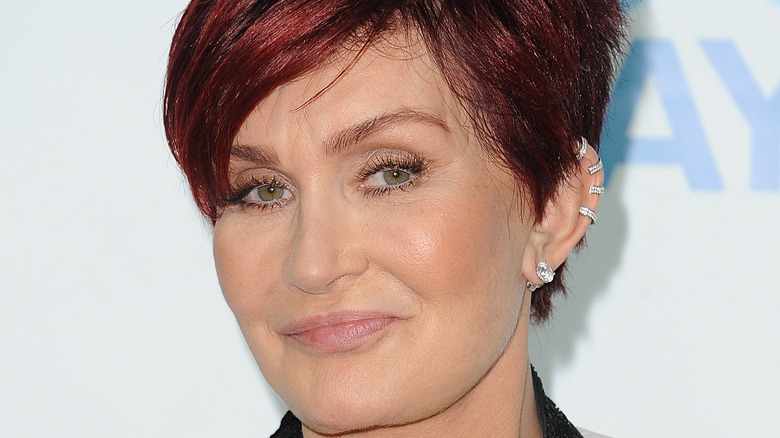 Sharon Osbourne poses at an event