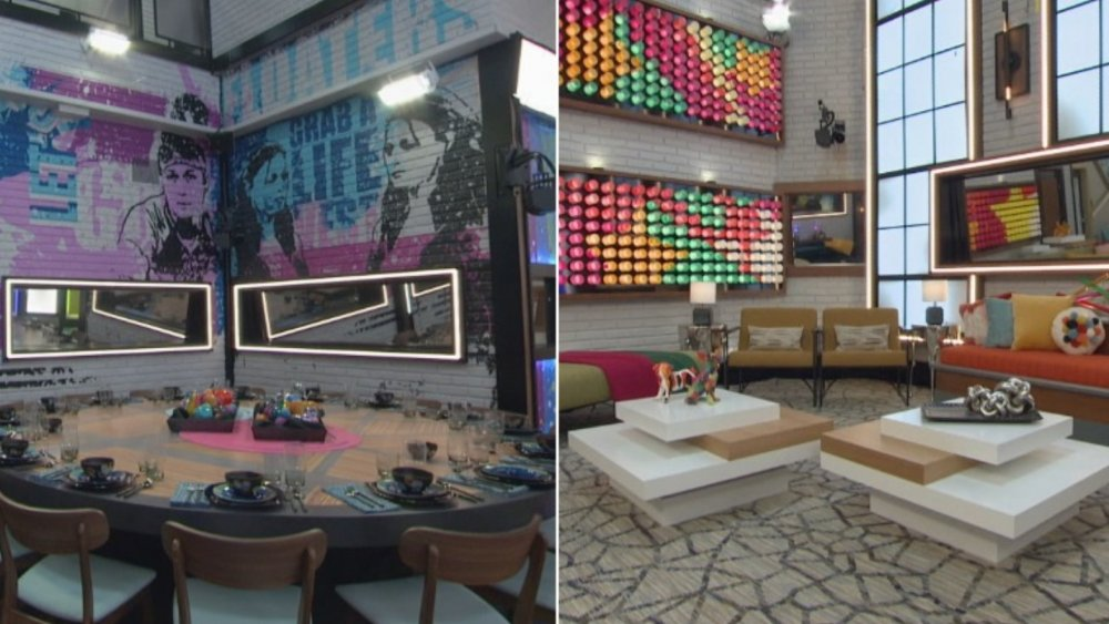 The dining room and living room on Big Brother All Stars