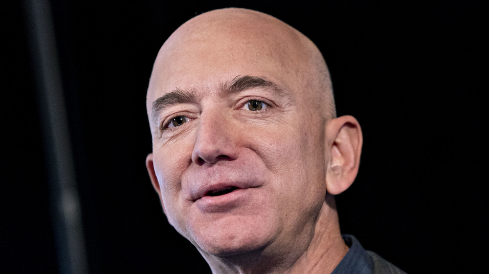 Jeff Bezos speaking at an event