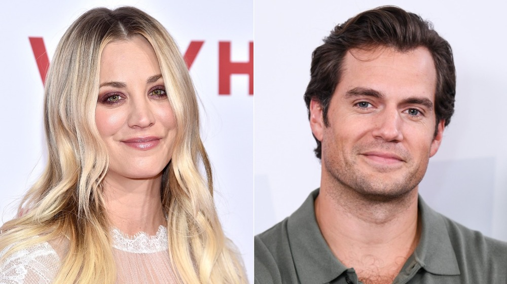 Kaley Cuoco and Henry Cavill smiling