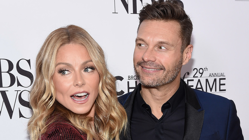Kelly Ripa and Ryan Seacrest on the red carpet