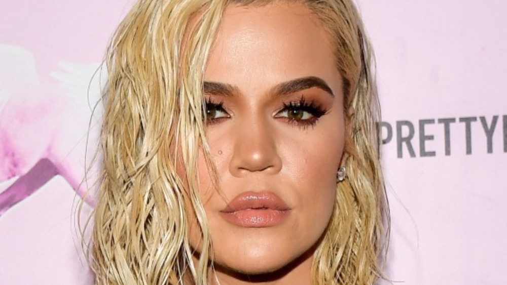 Khloé Kardashian attends the PrettyLittleThing LA Office Opening Party on February 20, 2019