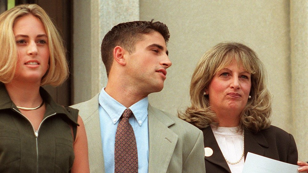 Linda Tripp and her two children, Allison and Ryan