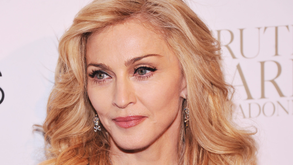 Madonna posing at an event