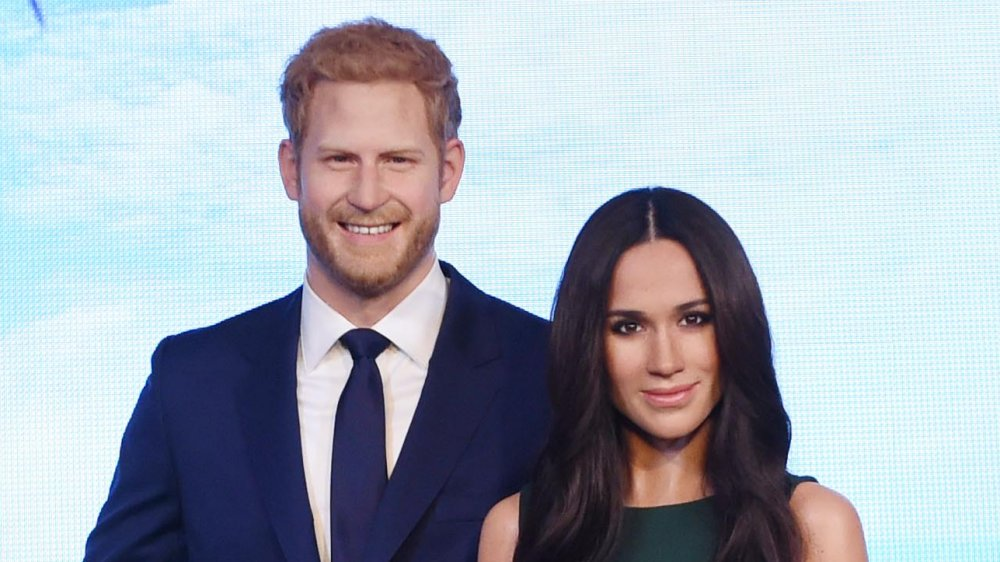 Prince Harry wax figure, Meghan Markle wax figure