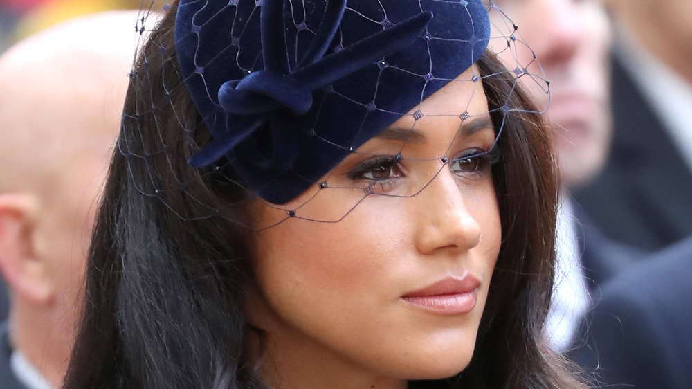 Meghan Markle staring ahead during royal outing