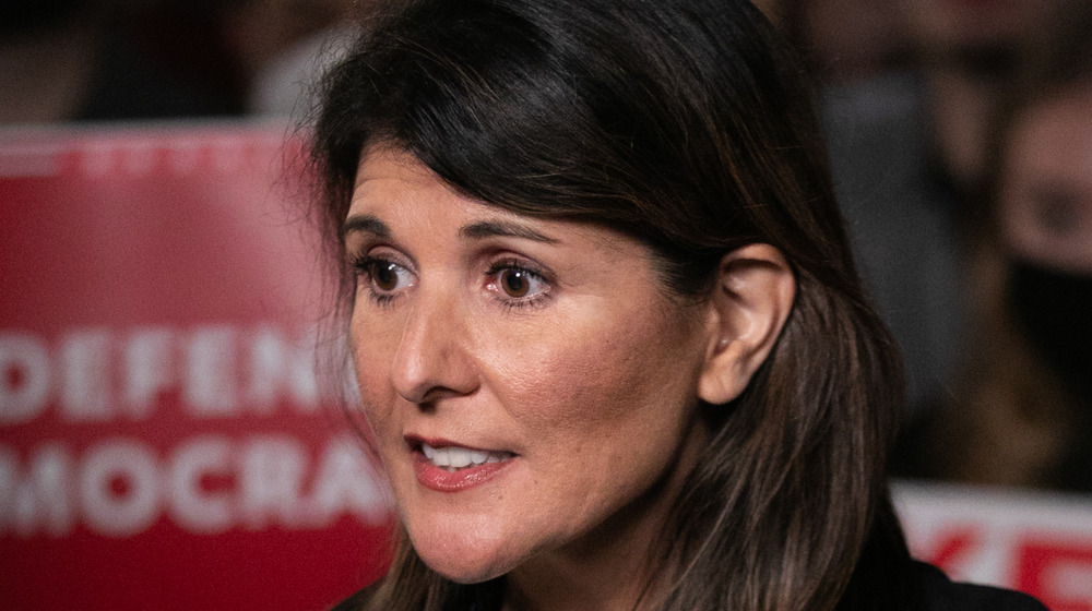Nikki Haley at a United Nations luncheon 2018