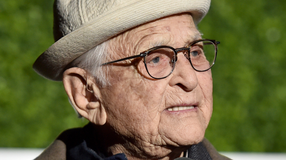 Norman Lear with a neutral expression