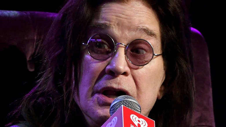 Ozzy Osbourne speaks onstage at iHeartRadio ICONS with Ozzy Osbourne: In Celebration of Ordinary Man