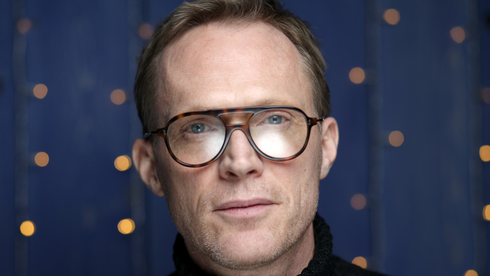Paul Bettany looking serious